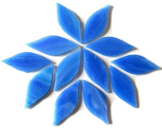 50g Various Colours Large Stained Glass Petals for Mosaic Arts and Crafts