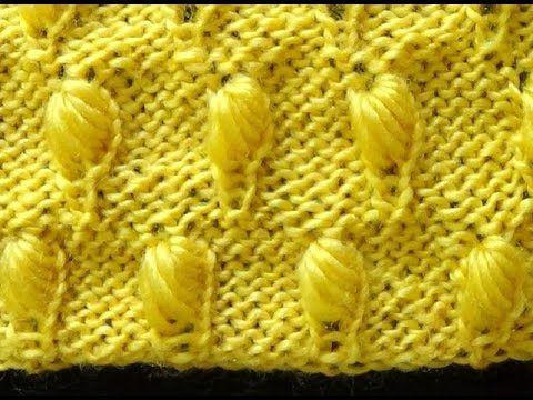 Cómo Tejer Punto Colmena Bordado-How to Knit Honeycomb Stitch  2 Agujas ...