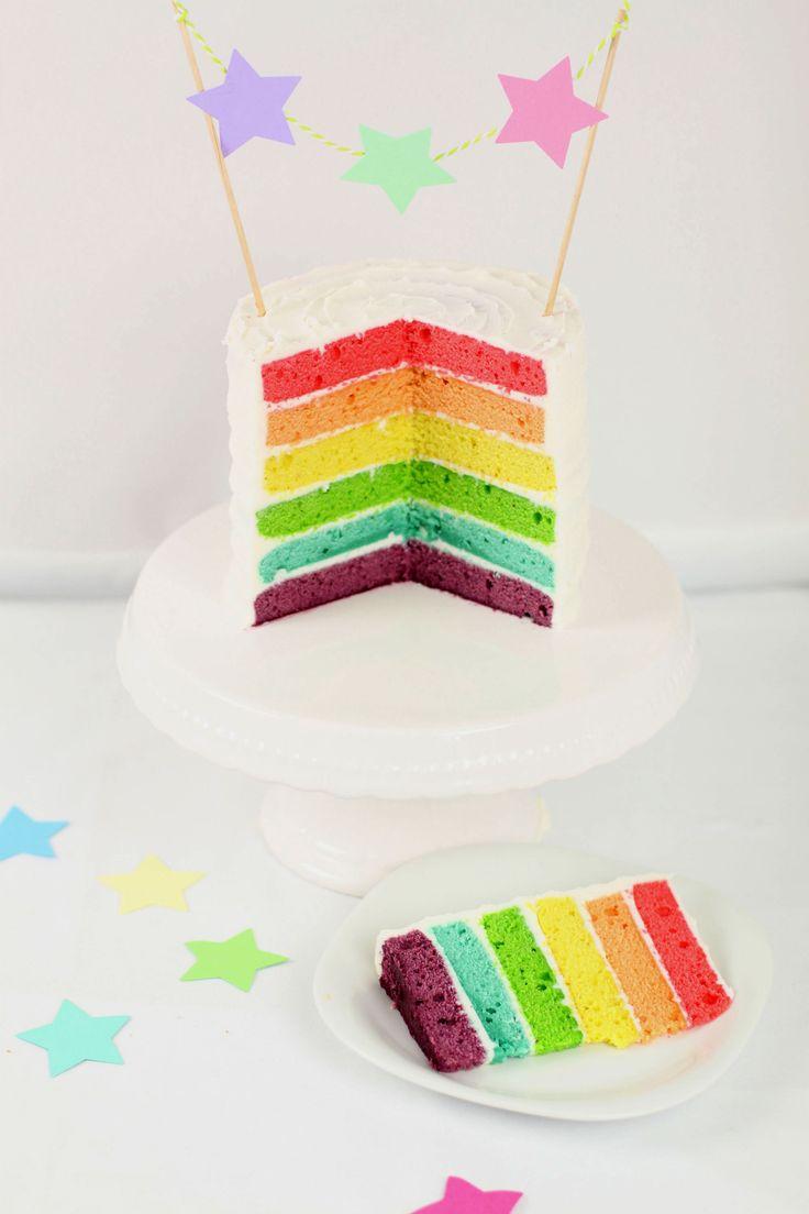 recette rainbow cake, recette gateau arc en ciel | sibO sibOn