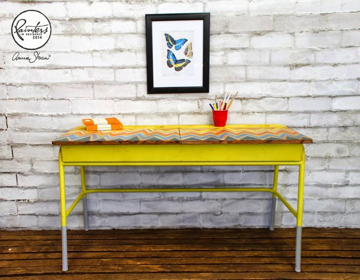 Annie Sloan Painter In Residence: Beau Ford and how a forgotten school desk received a colorful transformation with Chalk Paint® decorative paint by Annie Sloan | Via The Palette blog