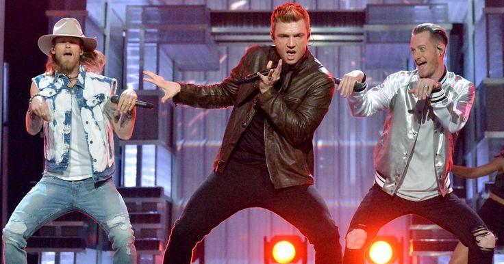 "Florida Georgia Line and Backstreet Boys perform ""God, Your Mama and Me"" and ""Everybody (Backstreet's Back)"" at the ACM Awards."