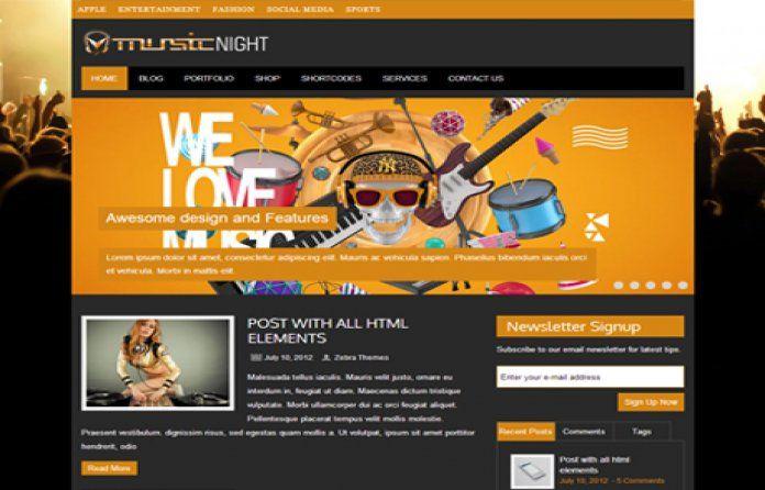 #MusicNight free #WordPress #theme dedicated to DJ's & music band. Built with #Bootstrap CSS #framework.