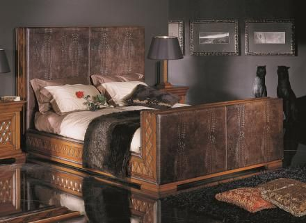 Bakokko classic bed with padded headboard