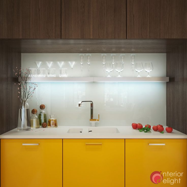 "Picture from ""Some like it... yellow"" - project by interiordelight.ro. A few shots from an exquisite kitchen..."