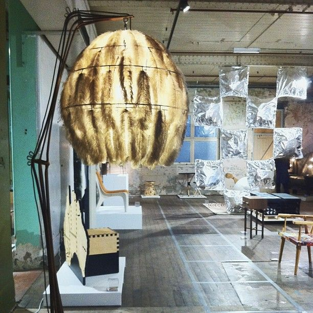 """@Melbourne Fringe's photo: """"If only all lamp shades were that soft and fluffy... #mfringe #furniture #fringefurniture #abbotsford"""""""
