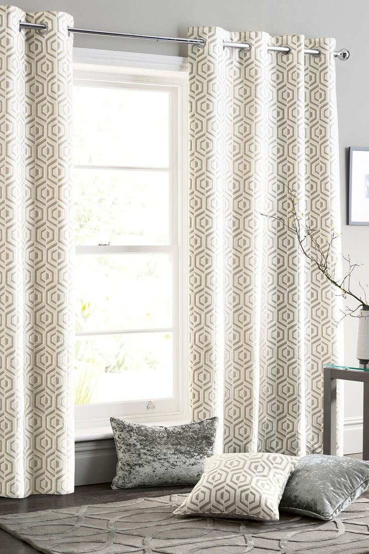 Couldn t find a picture of the curtains anywhere online this is - Buy Opulent Geo Jacquard Eyelet Curtains From The Next Uk Online Shop