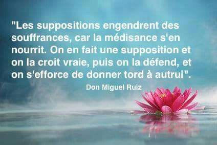 Les suppositions.....