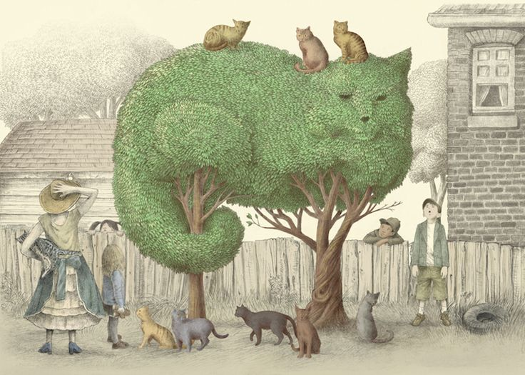 Whimsical Illustrations of Animal Topiaries by Terry Fan - Adventures of Yoo