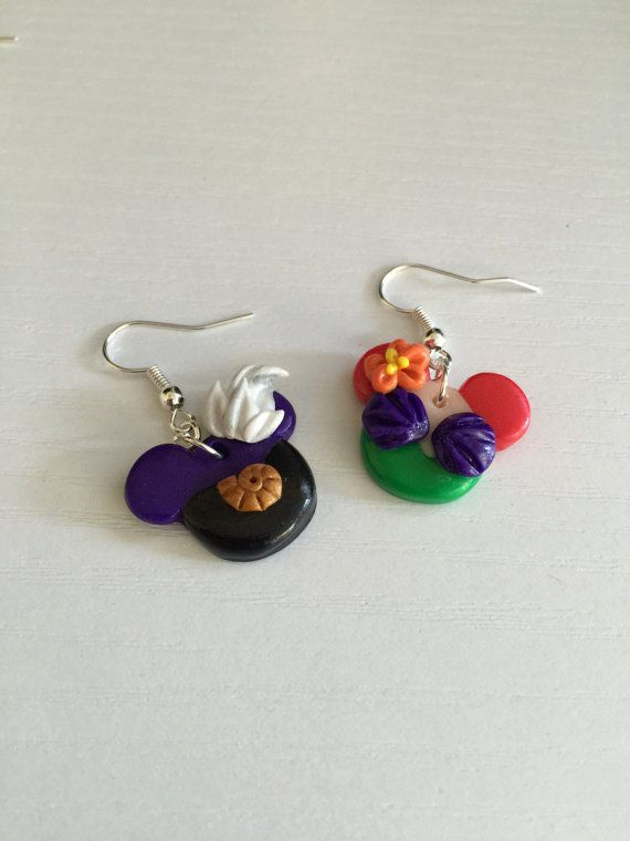 Little Mermaid Ariel Disney Earring. Ursula Disney by LIVCharmed