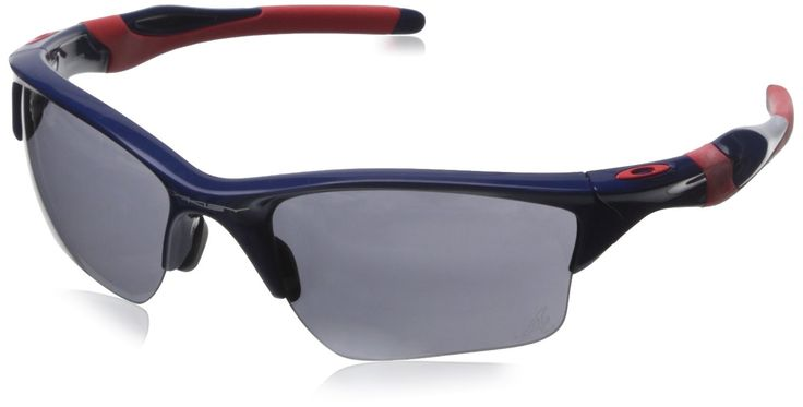 Oakley Men's MLB Braves Half Jacket 2.0 XL OO9154-44 Rectangular Sunglasses, Blue, 62 mm