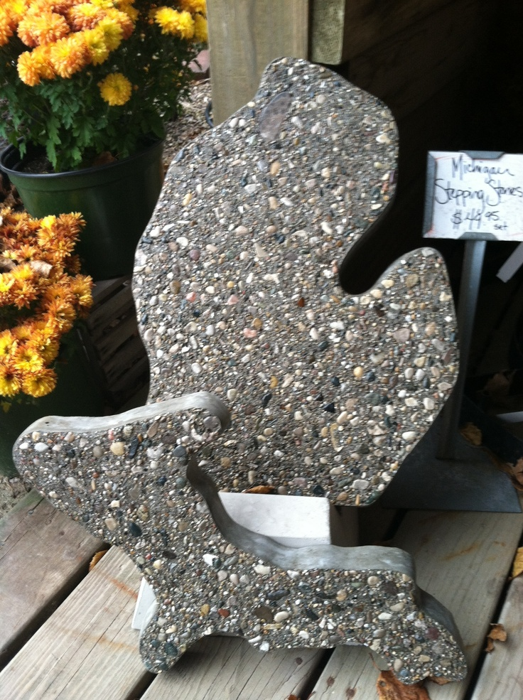 For the Michigan lover on your gift giving list - Michigan Stepping Stones from Sturgeon River Pottery in Petoskey. #PetoskeyArea http://www.PetoskeyArea.com