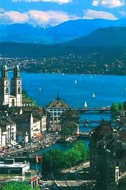 Zurich, Switzerland - Seriuosly the cleanest place I've ever been with breathtaking views of the Alps and the air is so fresh!