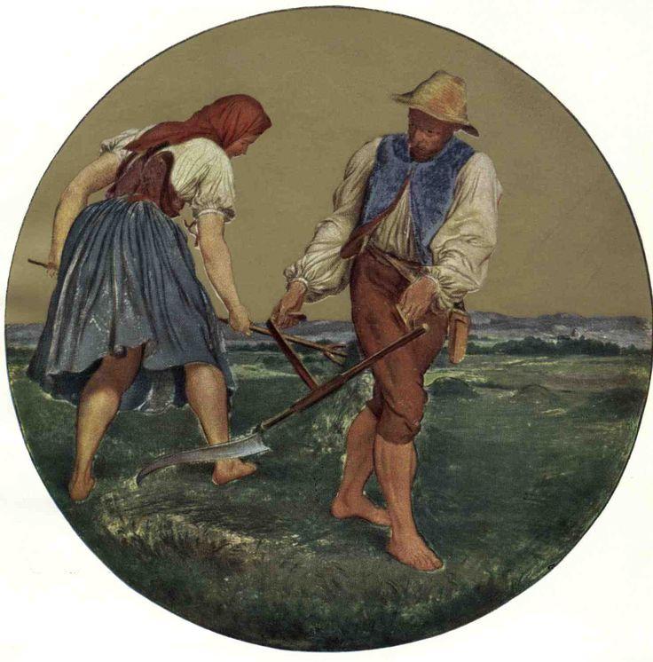 Červen, medailón Orloje by Josef Mánes