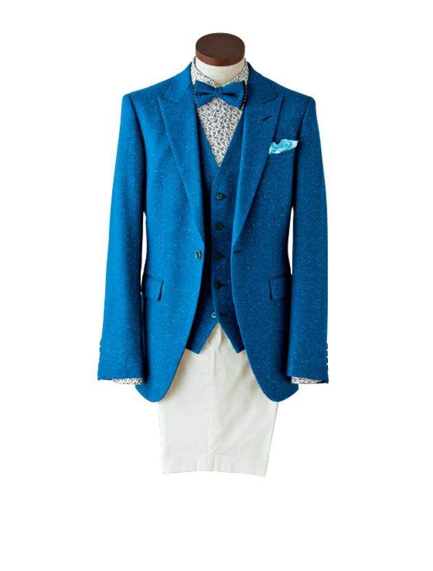 セレブ 25ans ヴァンサンカン 2ちゃん セレブ 25ans ヴァンサンカン 2ch 25ans 2ちゃんねる ヴァンサンカン ブログ 2ちゃん 25ans 2ch 13 おしゃれ花婿のためのシーン別スーツ着こなし提案 at 常夏ビーチリゾート特徴的な素材と柄でひと技効かせた着こなしに真っ青なブルー地にさまざまな色が散ったジャケットと花柄のシャツの組み合わせブルーホワイトを個性的にアレンジしてシ