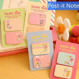 So cute deze handige mini post its van Little Talk. Handig voor in je agenda om bladzijden te markeren. ;Verkrijgbaar in de het roze, geel, blauw of groen.
