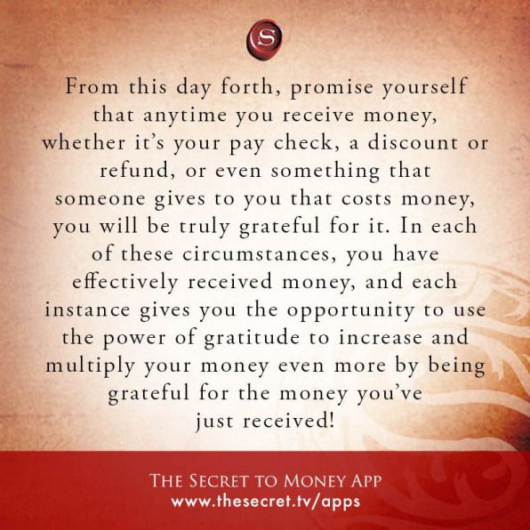 From This Day Forth Promise Yourself That Anytime You Receive Money Whether It S Your Pay Check Secret Quotes Law Of Attraction Law Of Attraction Affirmations
