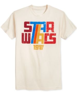 Fifth Sun Men's Star Wars 1977 Retro T-Shirt  - Tan/Beige