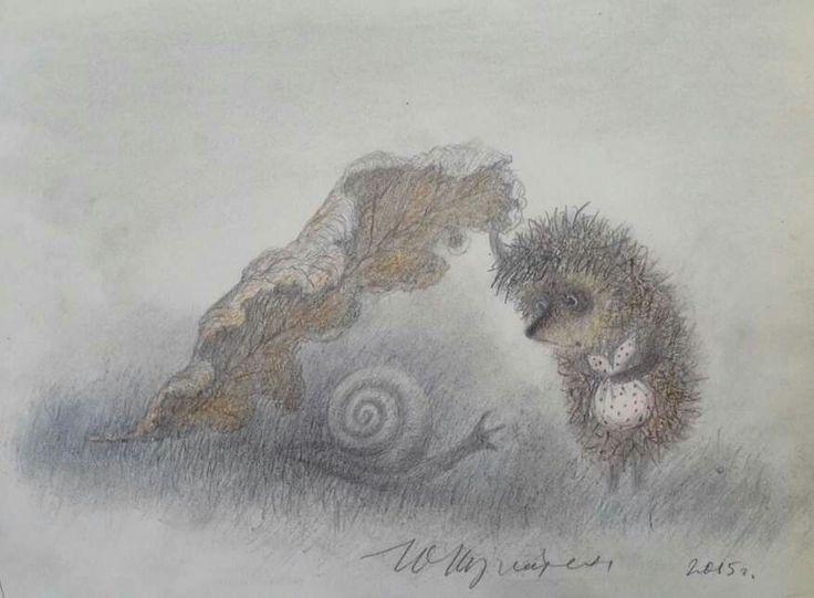 Картинки ежика в тумане качественные, надписью ануш открытки