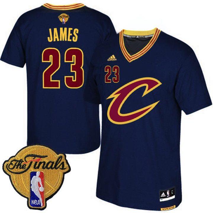 Men's Lebron James Cavaliers 2016 NBA Finals Black Jersey