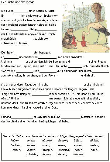Zeitformen von Verben - Verben in der Vergangenheit