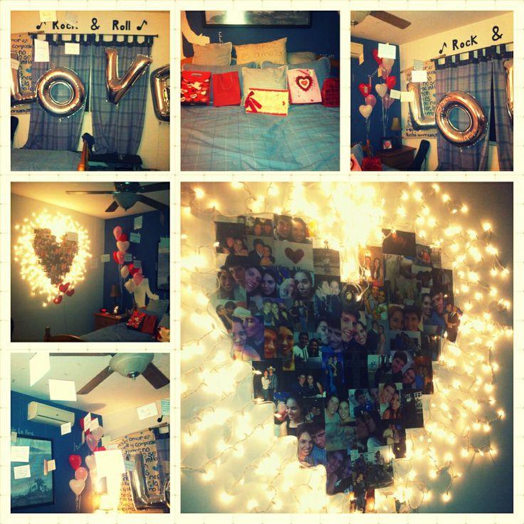 cuarto de mi novio en nuestro aniversario