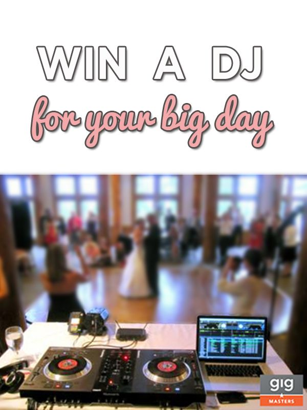 dj giveaway wedding giveaway win your wedding dj from gigmasters 9727