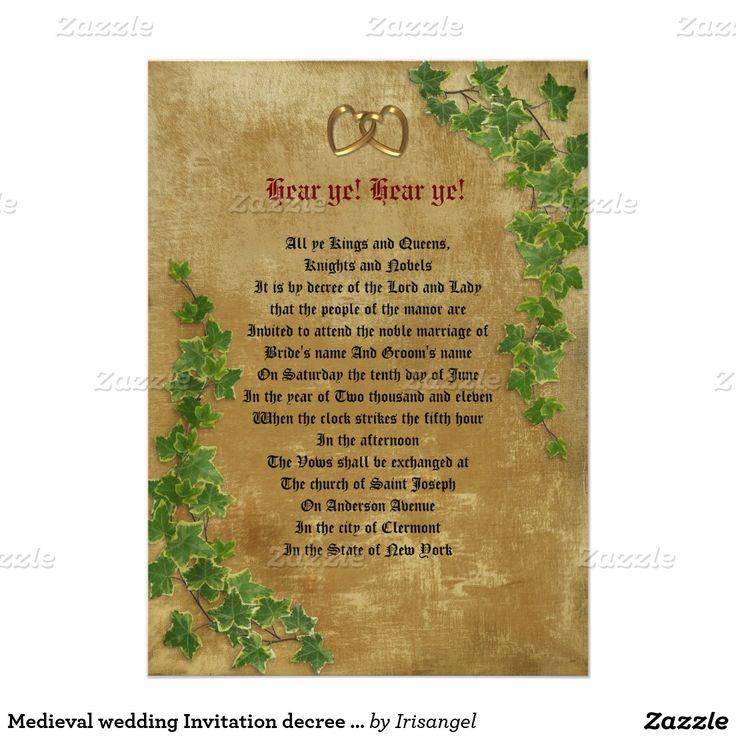 28 Best Medieval Wedding Invitations Images On Pinterest: 37 Best Irish Wedding Invitations Images On Pinterest