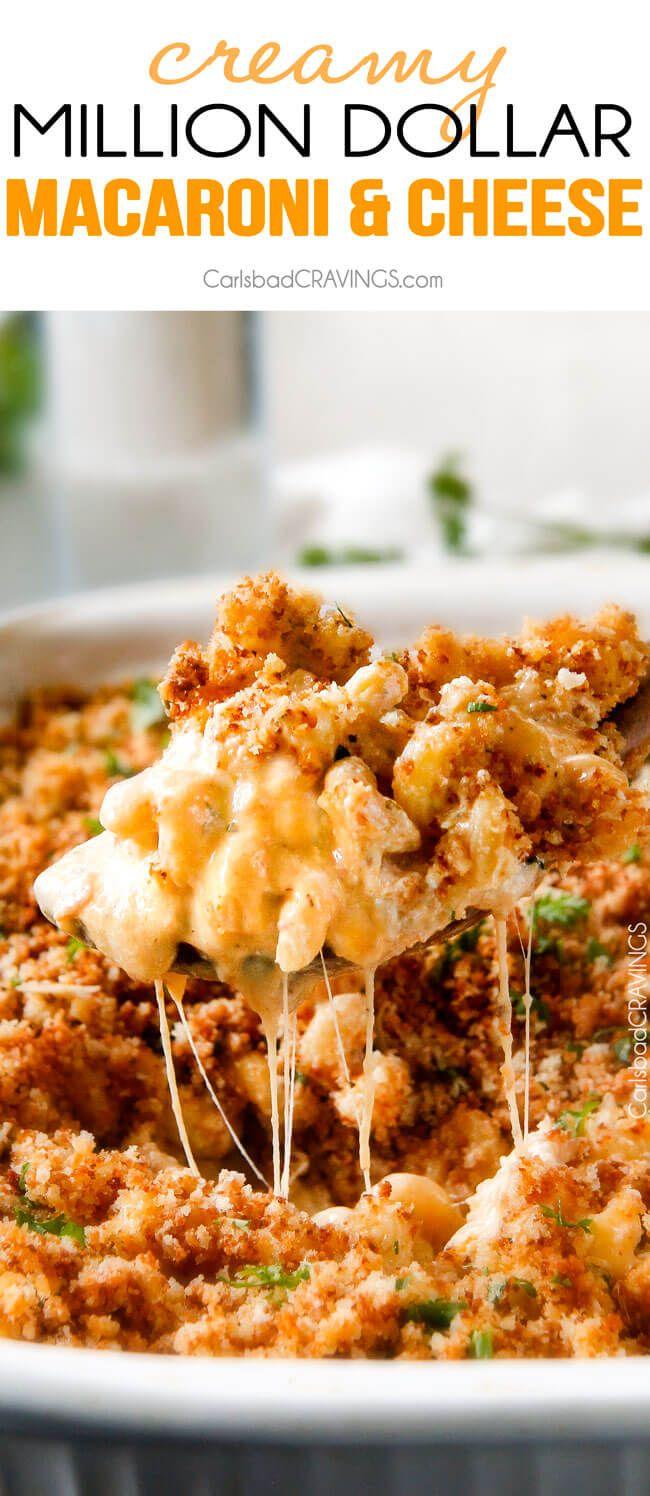 Deze mega romige Million Dollar Macaroni and Cheese Casserole is de enige Macaroni kaas recept dat ik ooit zal maken vanaf nu!  De romige zelfgemaakte saus is geweldig en de schotel is gevuld met een laagje provolonekaas en zure room dat smelt wanneer gebakken voor een belachelijke hoeveelheid van een fluwelen romig, cheesiness!