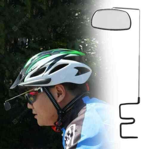 Bicycle Cycling Riding Mirror Helmet Mount Rearview Rear View Eyeglass Bike