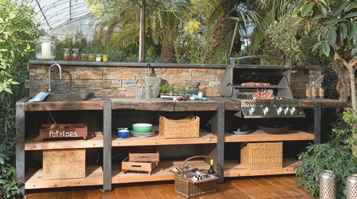 Outdoor Kuche Aus Holz Selber Bauen   Design für ...