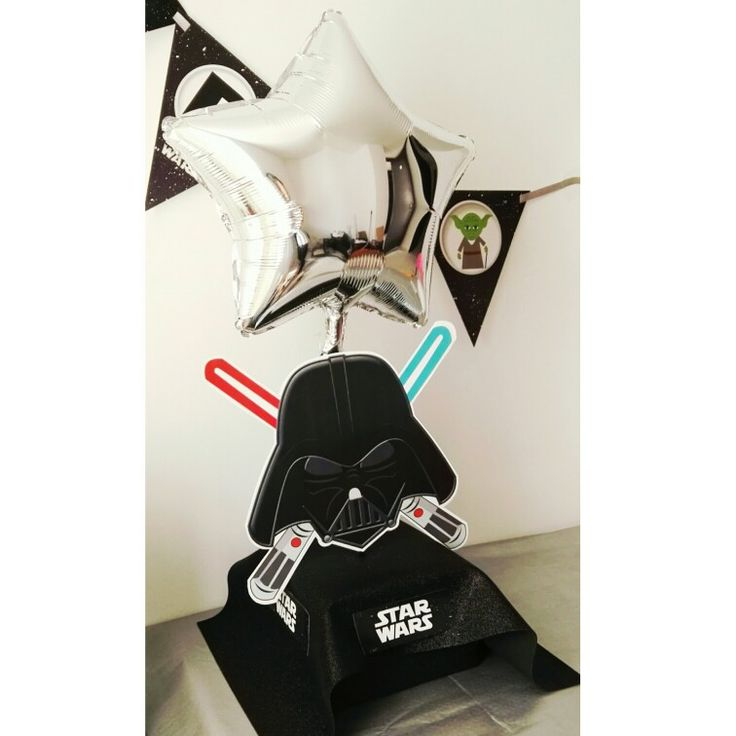 Darth Vader centerpiece.  #starwars #temáticas #personaliza #centrodemesa #momentoswapache #centerpiece #darthvader
