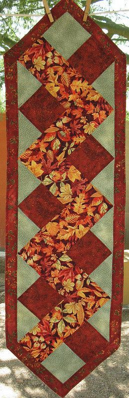 14 X 49 inch Table Runner in Autumns Richest by SonoranExpressions: