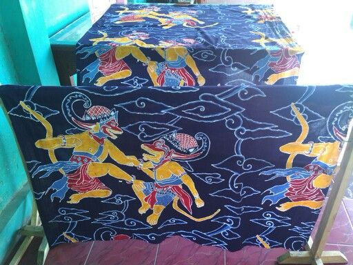 Subali vs Sugriwa.. Batik tulis. Kain mori prima. 2,5 meter.