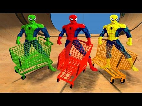 Dump Truck Color Cars for Kids and Spiderman Cartoon Fun Videos for Children and More Nursery Rhymes - YouTube
