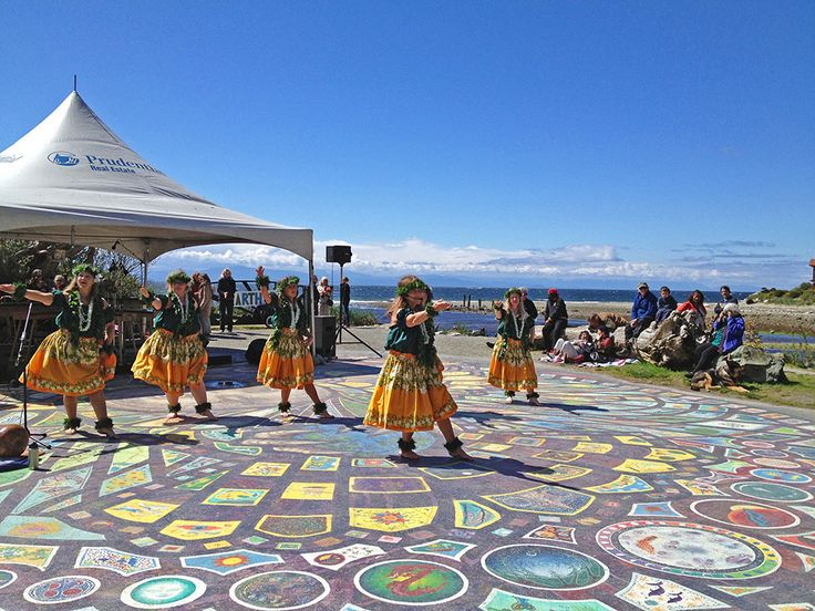 picture of earth day dancers in Roberts Creek