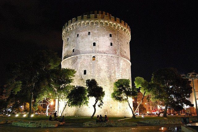 White tower in the night!!!!!
