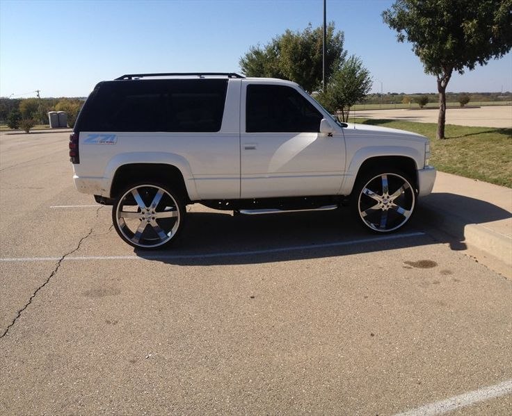 1994 White Chevy Lifted