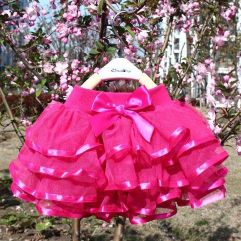 2015 Brand New Summer Baby Girl Skirt saia Fashion Pink Cake Ball Gown Ballet Girl Lace Skirts Girl Tutu Skirt Kids Clothes