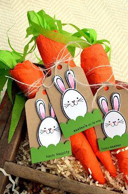crepe paper carrots - treat bundle tutorial - by Jessica