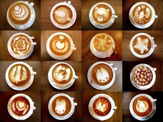 Wow great coffee foam designs | kawaii noms only | Pinterest