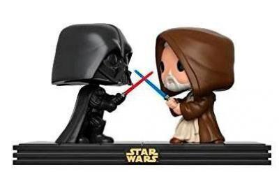 Pack 2 cabezones Death Star Duel 9 cm. Star Wars. Línea POP! Movie Moments. Funko Foto 1