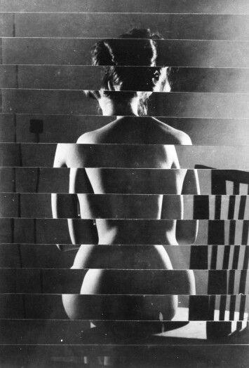 © Václav Chochola, ca. 1960, Back, Nude (rollage)