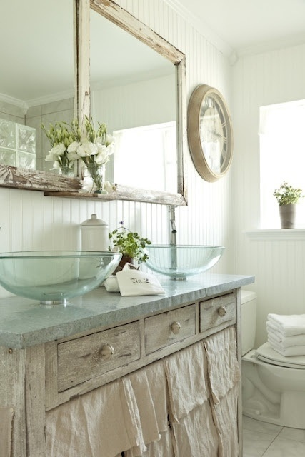101 best Heirloom Bathrooms images on Pinterest Bathroom - shabby chic badezimmer