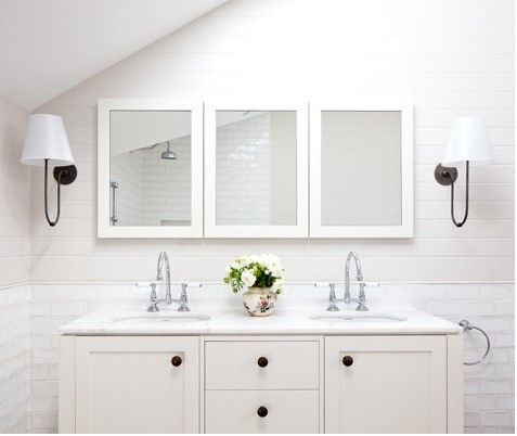 Traditional never goes out of style! Loving this custom bathroom vanity we made to suit the space perfectly!