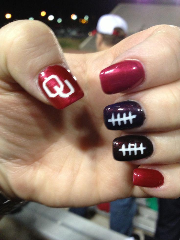 OU Sooner Nails