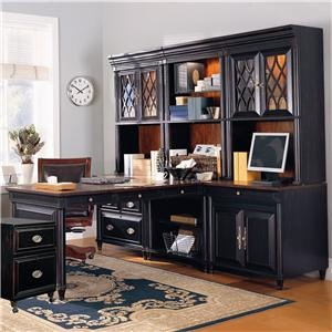 office furniture wall unit. young classics lshape office wall unit with glass door hutches u0026 partneru0027s desk by aspenhome becker furniture world twin cities i