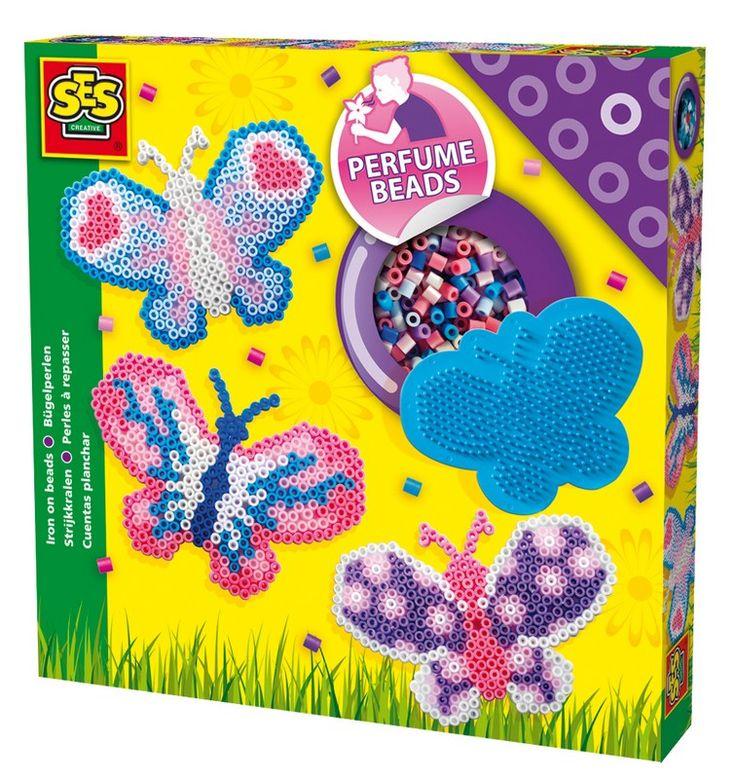 Koraliki do prasowania pachnące motyle - zabawki kreatywne dla dziewczynek