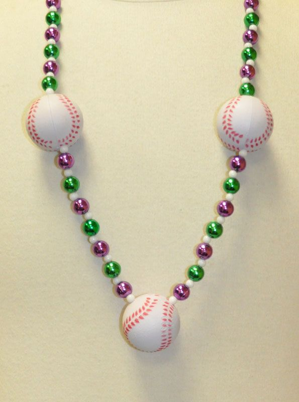 Sports Themes Baseball Beads PGG, from Beads by the Dozen