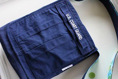a.Amelia handmade: Military Uniform Upcycle, Part 2: Cargo Pants to Messenger Bag