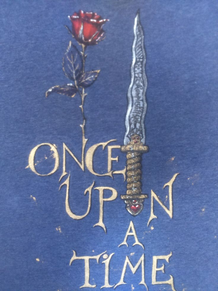 Once Upon a Time hand painted t-shirt for my friend Monica